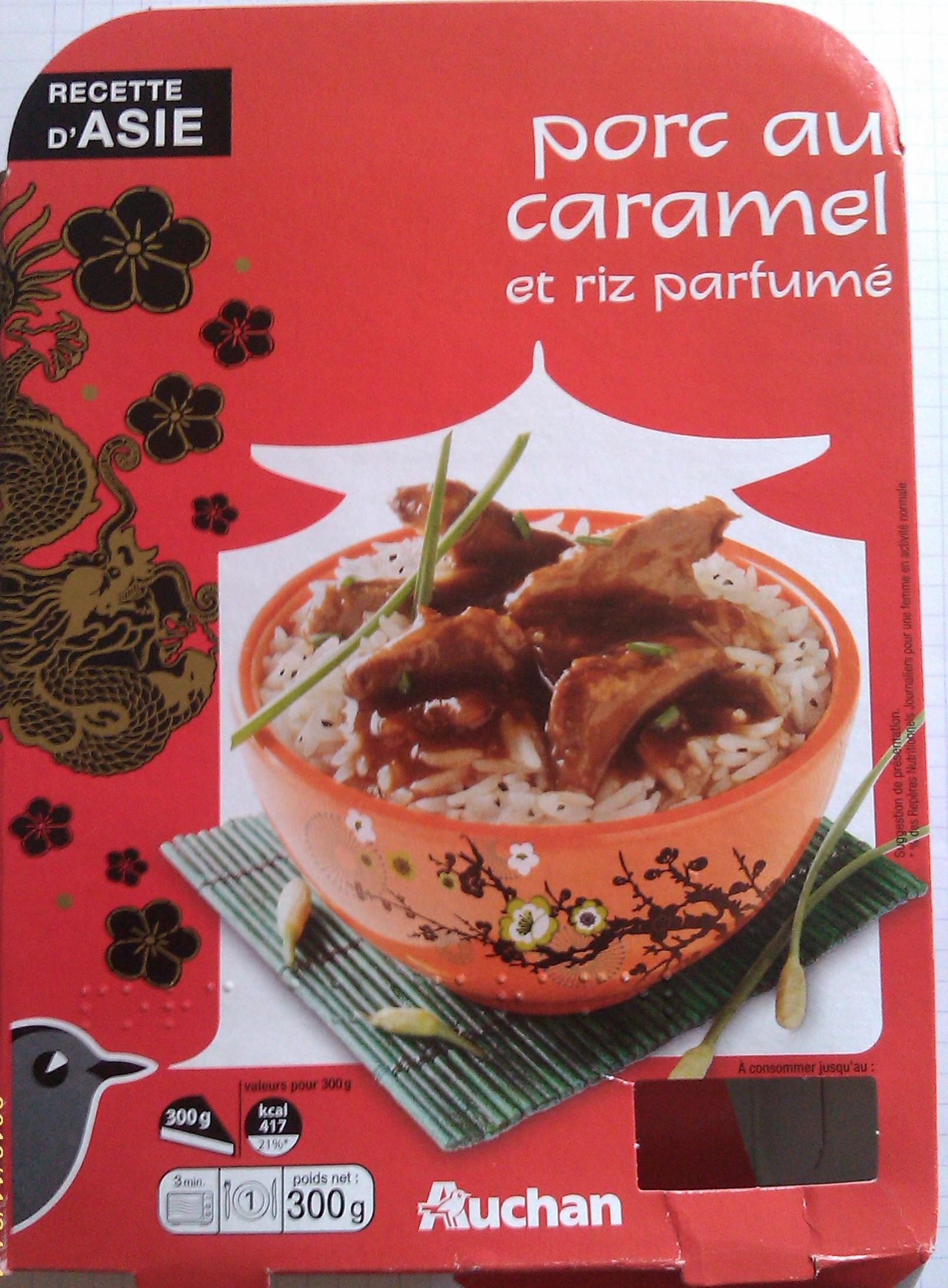Porc au caramel et riz parfum l 39 oiseau 300 g 1 personne - Quantite de riz par personne ...