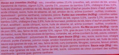 Assortiment de Bouchées Vapeur - Ingrédients - fr