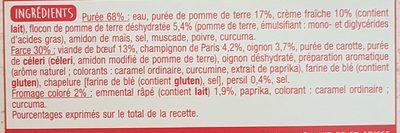 Hachis Parmentier (1 portion) - Ingrédients - fr