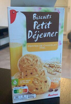 Biscuits Petit Déjeuner Pépites de Chocolat Miel - Produit - fr