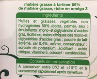 Matiere grasse a tartiner riche en omega 3 doux - Ingredients