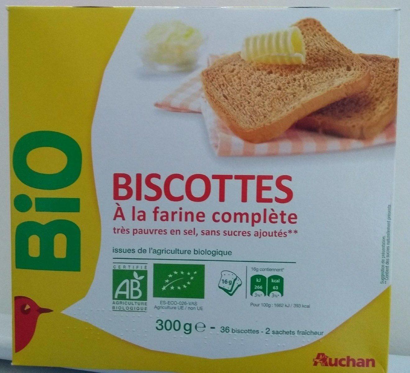 Biscottes a la farine complète - Product