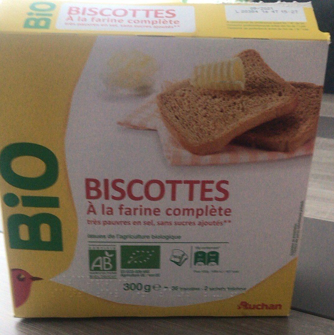 Biscottes bio farine complete tres pauvres en sel - Produit - fr