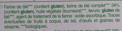 Biscottes a la farine complète - Ingredients