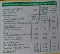 Goûters cacao - Voedingswaarden - fr