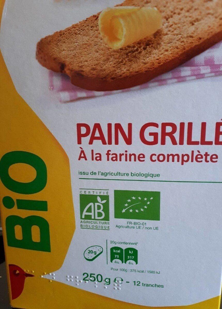 Pain grillé à la farine complète - Produit - fr