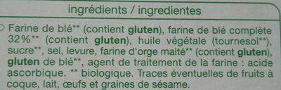 Pain grillé à la farine complète - Ingrédients - fr