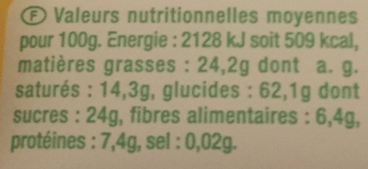 Galette de riz chocolat noir - Voedingswaarden - fr