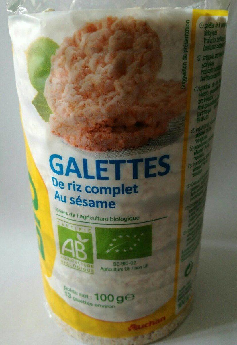 Galettes de riz complet au sésame - Product