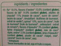 Muesli Croustillant Quinoa chocolat - Ingredienti - fr