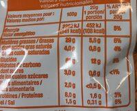 Croustillant goût fromage - Informations nutritionnelles - fr