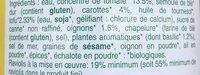 Raviolis végétariens - Ingrediënten - fr