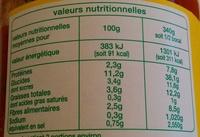 Raviolis végétariens - Voedingswaarden - fr