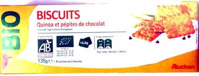 Biscuits quinoa et pépites de chocolat - Produit - fr