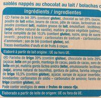 Sablés nappés chocolat au lait - Ingredientes - fr