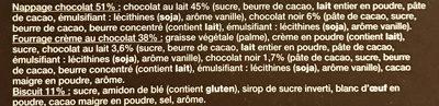 Mmm! Domes Aux 2 Chocolats - Ingrédients