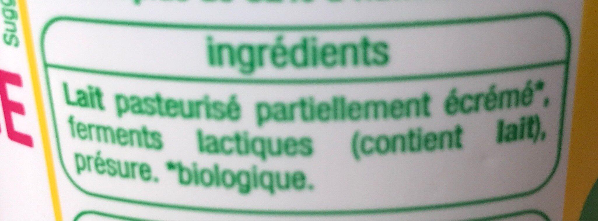 Fromage blanc issu de l'agriculture biologique - Ingrediënten