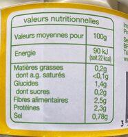 Coeurs de palmier sauvage bio - Nutrition facts - fr