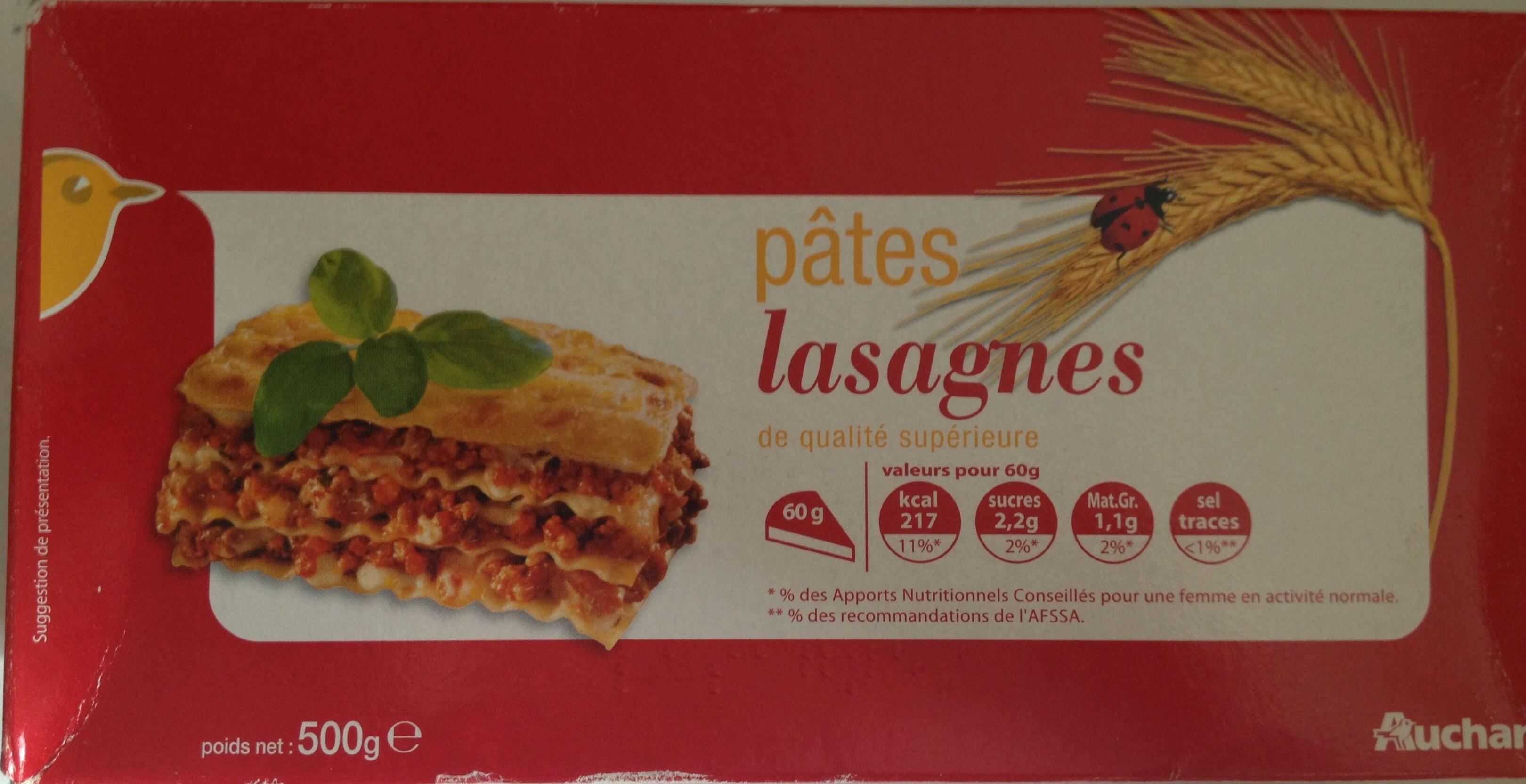 Pâtes lasagnes de qualité supérieure - Produit