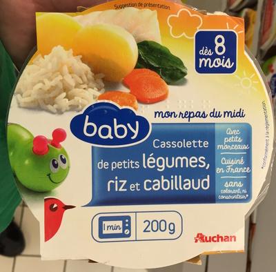 Cassolette de petits légumes, riz et cabillaud - Product