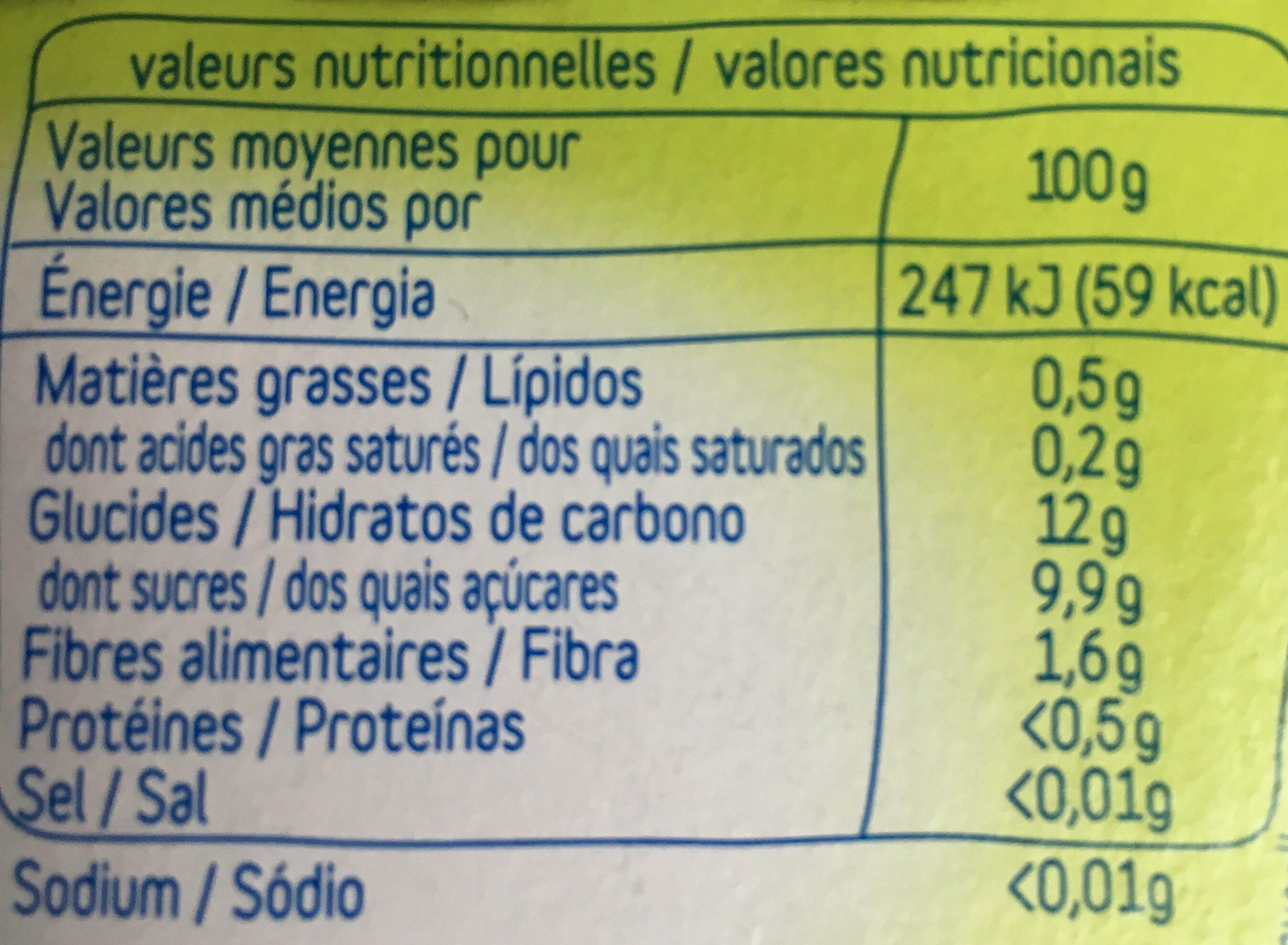 Baby coupelles pomme coing banane des 4 mois - Informations nutritionnelles - fr