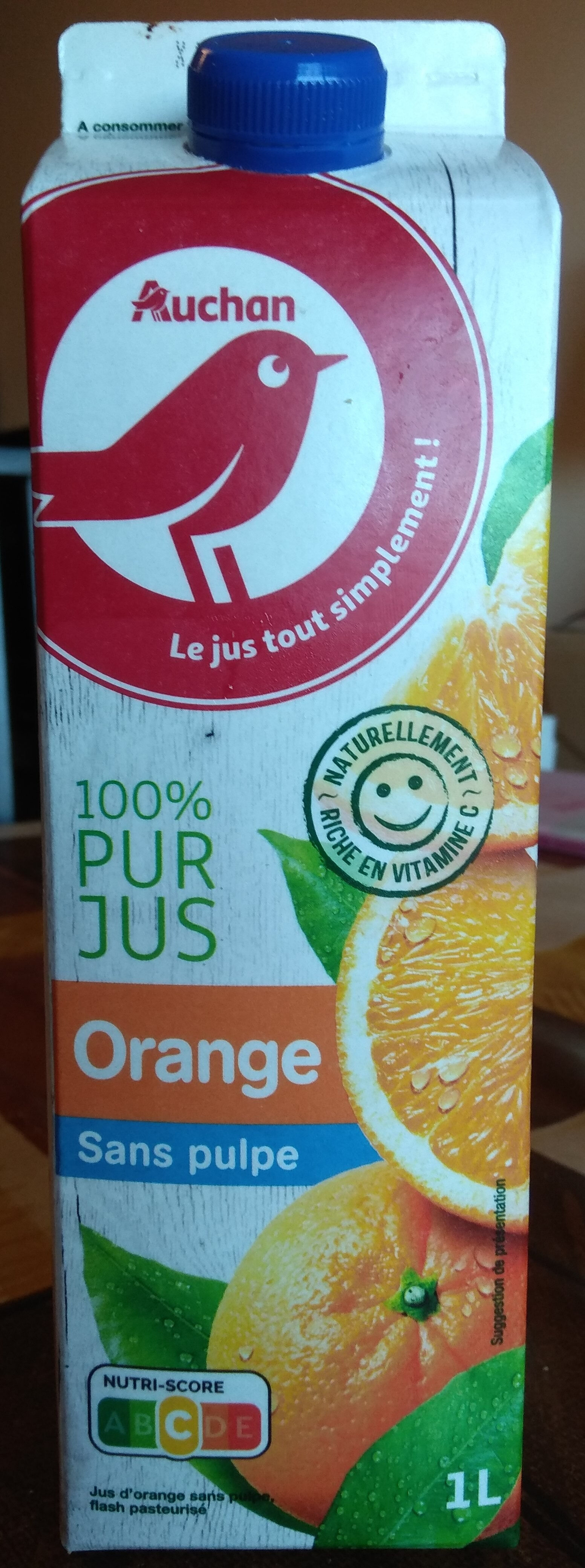 Orange sans pulpe - Produit - fr