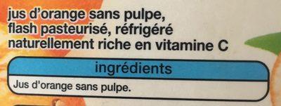 Orange sans pulpe - Ingredients