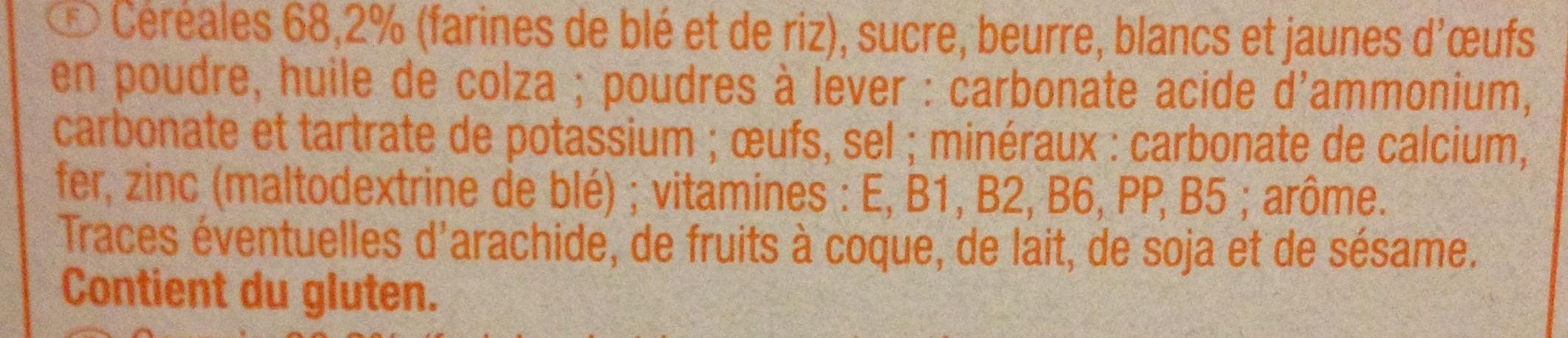Biscuits bébé - Ingredients - fr