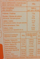 Biscuits bébé - Nutrition facts - fr