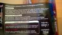 Riste d'aubergines (4 portions) - Ingrédients - fr
