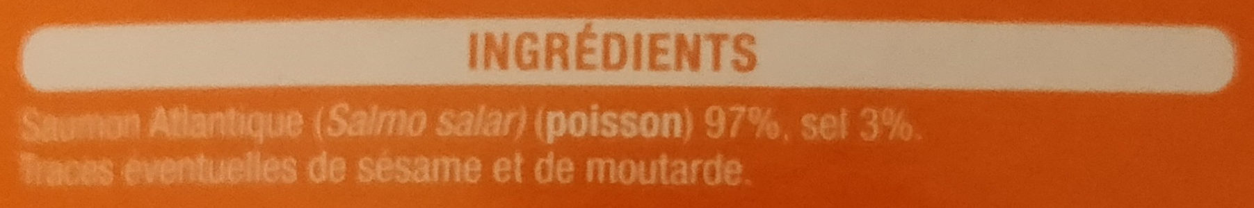 Dès de saumon fumé au bois de hêtre - Ingredients - fr