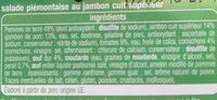 Piémontaise au jambon - Ingrédients