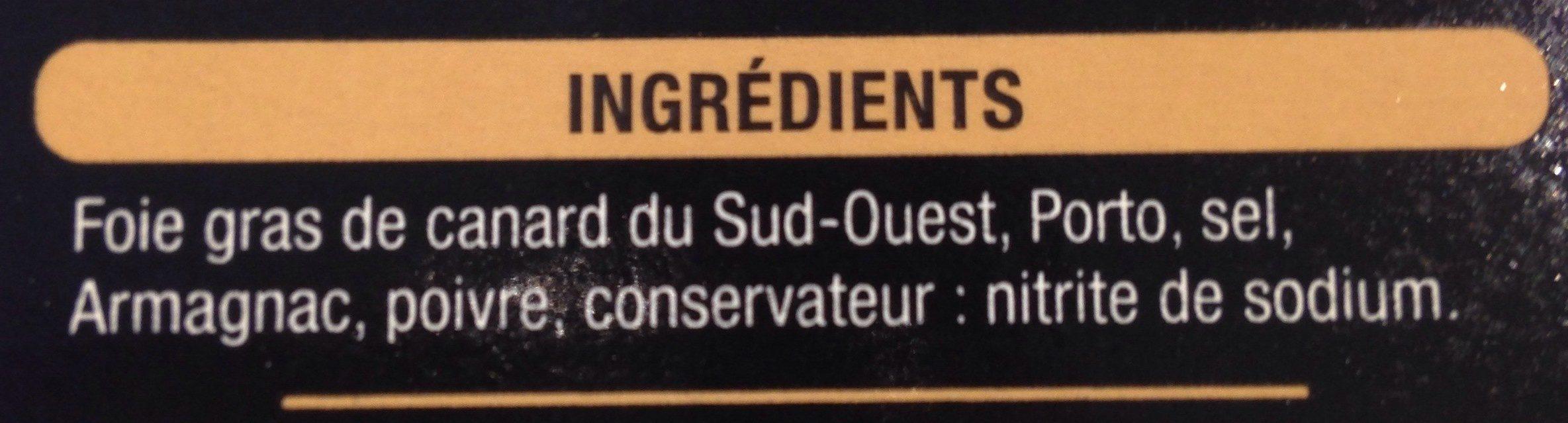 Duo de foie gras de canard entier du Sud-Ouest - Ingredients