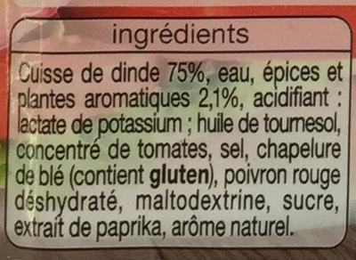 Émincés de Dinde, Saveur Kébab - Ingrédients - fr