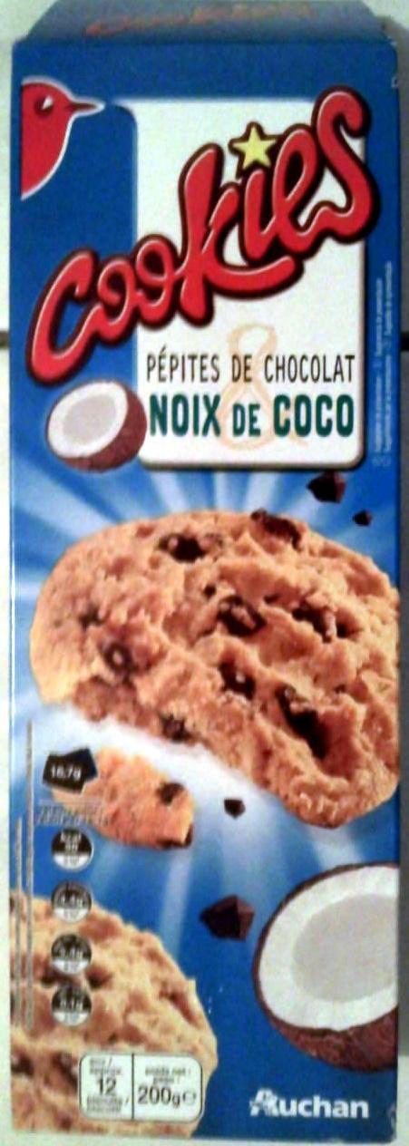 cookies p pites de chocolat noix de coco auchan 200 g. Black Bedroom Furniture Sets. Home Design Ideas