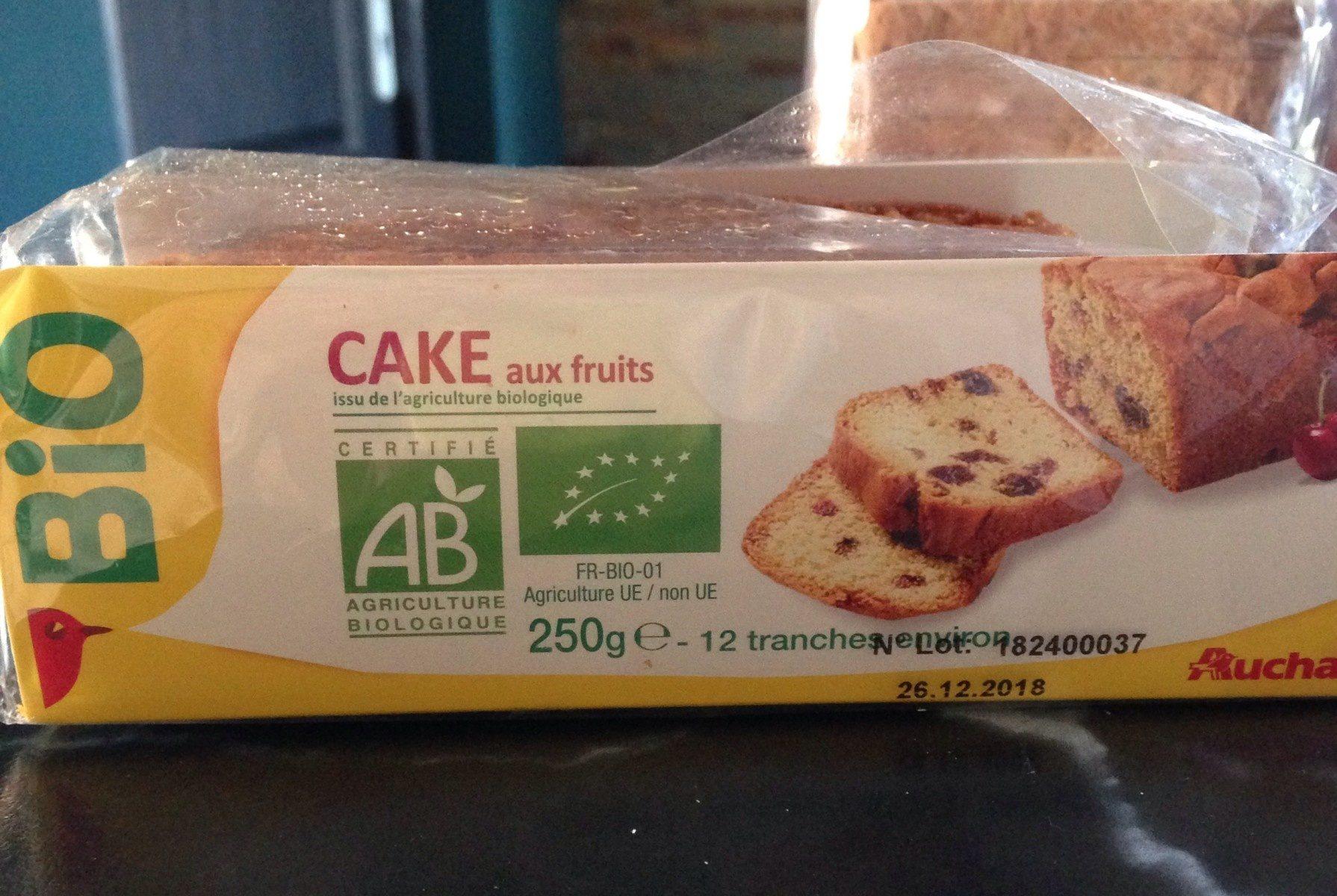 Auchan Cake Aux Fruits Bio - Product