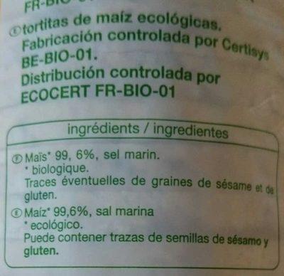 Galettes de maïs - Ingredientes - es