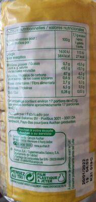 Galette de maïs - Voedingswaarden - fr