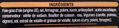 Foie gras d'oie - Ingredients