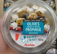 Olives vertes et dés de fromage - Product - fr