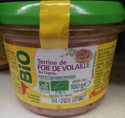 Terrine de foie de volaille au cognac bio auchan 180 g for Cognac auchan