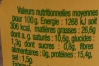 Terrine de campagne Bio - Nutrition facts - fr
