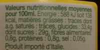 Vinaigre Balsamique de Modène 6% d'acidité Bio - Nutrition facts