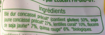 Mélange de céréales et légume - Ingrediënten - fr