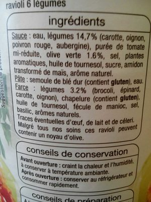 Ravioli 6 Légumes - 4