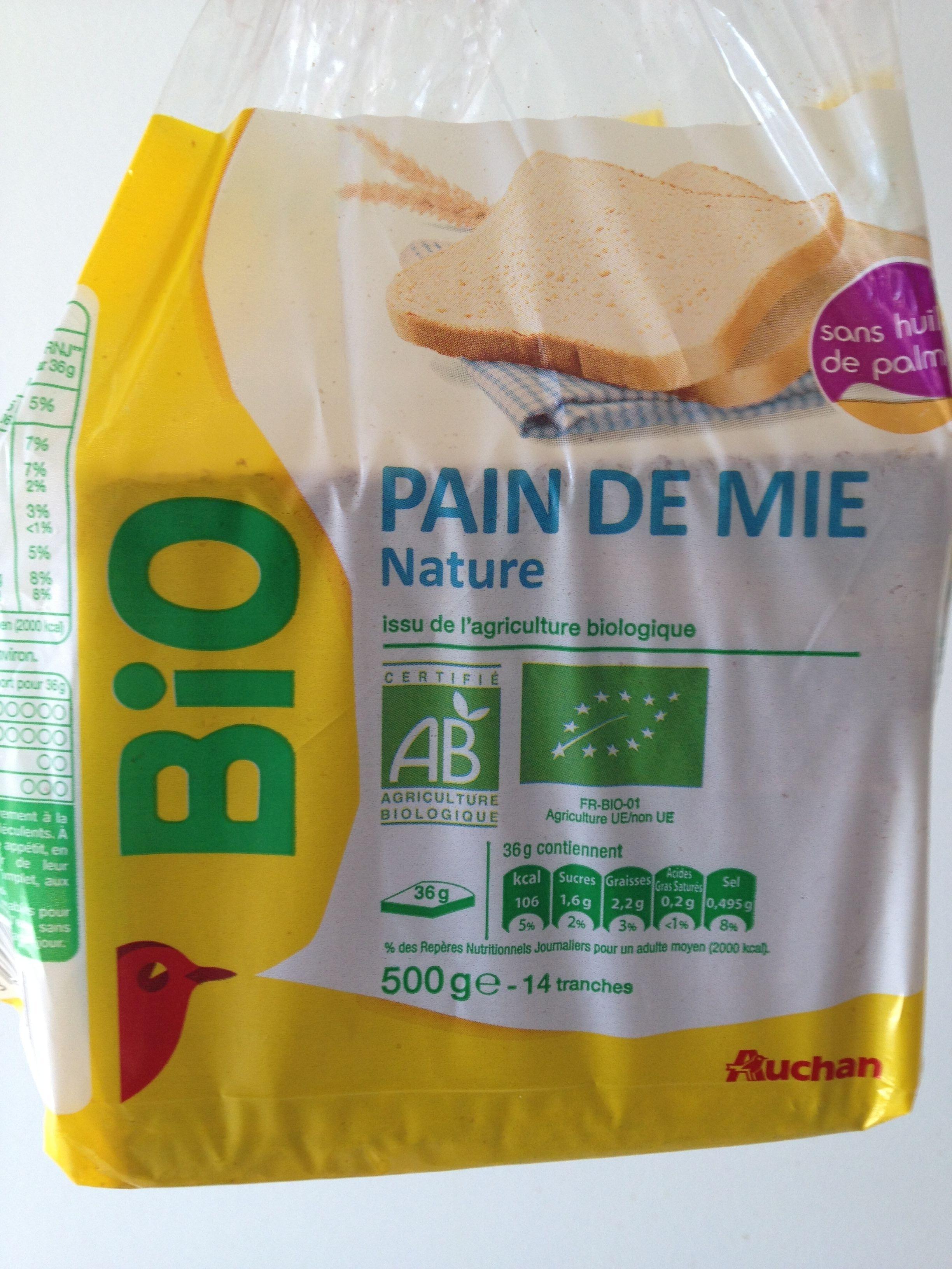 Pain de Mie Nature Bio (14 tranches) - Product - fr
