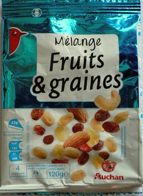 Mélange fruits et graines Auchan - Product - fr