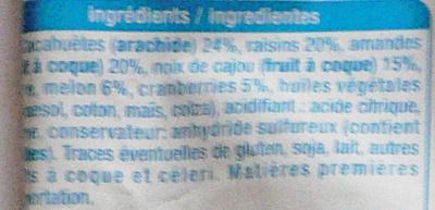 Mélange fruits et graines Auchan - Ingrediënten - fr