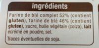 Tartines craquantes au blé complet - Ingrediënten