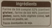 Tartines craquantes au blé complet - Ingrédients - fr